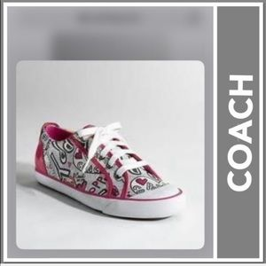 Coach Shoes Barrett Poppy Graffiti Heart Tennis